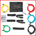11 bandes de résistance PCS Set Yoga Pilates Abs exercice bandes de Fitness Workout Tube