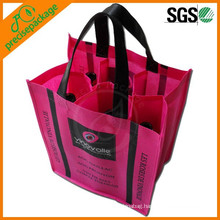 New Fashion Recycled Non Woven Wine Bottle Bag for 6 pack