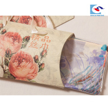 free samples pillow box for scarves packaging with handles