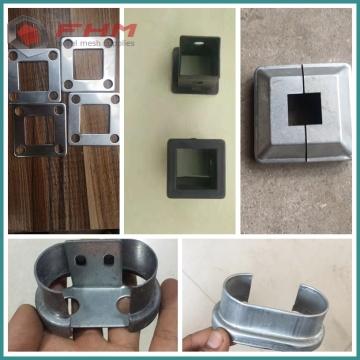 Accessoires de garnitures de clôture de jardin enduites de PVC galvanisé