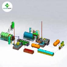 Máquina de refinaria de óleo de plástico de óleo de pirólise de pneu com melhor desempenho