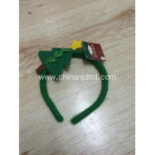 Green Christmas tree head hoop
