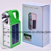 Lumière extérieure rechargeable solaire de lanterne de LED de camping