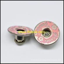 Botón de los pantalones vaqueros de metal bronce con aceite de rosa