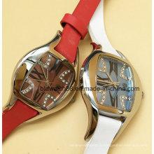 Élégantes montres en acier inoxydable pour femmes avec bracelet en cristal