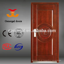 Porta de madeira de aço blindada safty exterior