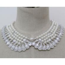 Женщина мода костюм ювелирные изделия жемчуг коренастый воротник ожерелье (JE0146)
