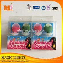 Función de llama de color y uso de cumpleaños Velas de torta de cumpleaños único con certificados de alta calidad