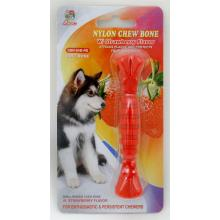 "Percell 4.5 ""Nylon Dog Chew Spiral Bone Strawberry Scent"