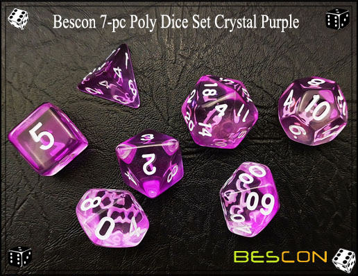 Crystal Purple Dice Set-5