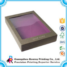 Custom Purple Window Paper Board Luxury Clothing Packaging Box