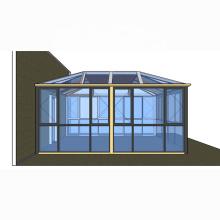 new design good quality aluminum profile sunrooms glass houses