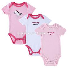 2017 Plain White Pink 100% Baumwolle Infant Kleidung Mädchen einteiliges Baby Strampler Rohlinge Für 0-12 Monate Kinder