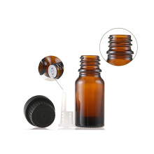 Personal Care essential oil glass  bottle with plastic lid
