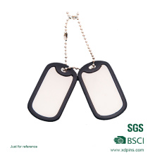 Wholesale Custom Metal Military Dog Tag with Rubber