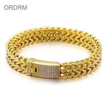 Custom Stainless Steel Gold Bracelets For Men