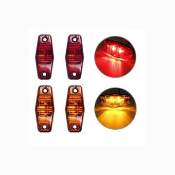 NITOYO  2 Diodes Led Mini Oval Trailer Led Side Fender Marker Lights Waterproof Led Marker Light