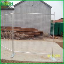 Clôture amovible 40-60g clôture temporaire galvanisée à chaud