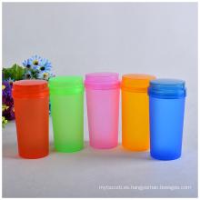 Botella de agua colorida plástica barata para hacer publicidad