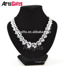 Luxury Drop Water Drop Shape Cubic Zirconia diamond necklace