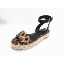 Sandalias de tobillo con punta abierta para mujer