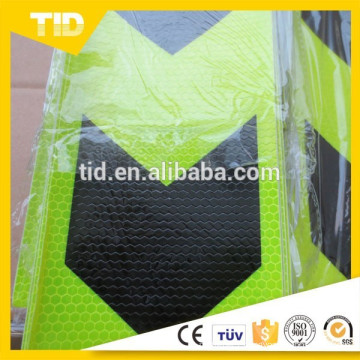 Adhesive PVC Arrow Traffic Warning Safety Reflective Sticker