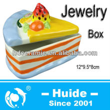 A piece cake ceramic jewelry boxes