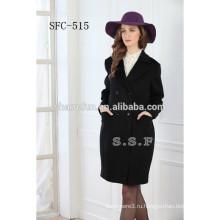 дамы последние дизайн пальто из чистой шерсти
