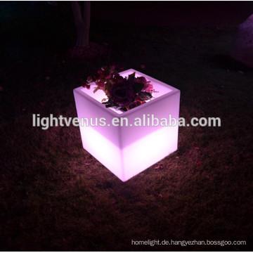 schöne Farbwechsel führte quadratische Blumentopf für Party, Heimtextilien