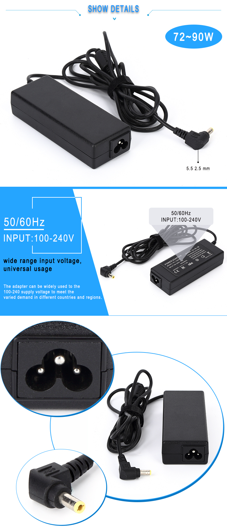 24v ac dc power adapter