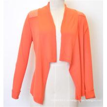 100% хлопок Мода Горячие продажи Knit Открытый кардиган для женщин