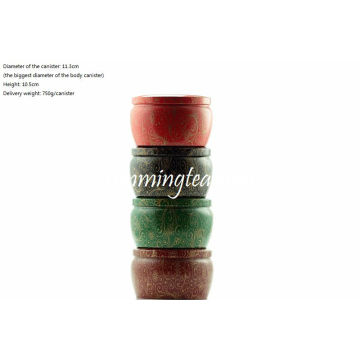 Four Color Tin Canister Set For Matcha Ceremony
