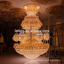 Vintage Interior Decor Luxury Hotel Lobby Crystal Chandelier Large Big Pendant Hanging Lamp Iluminación Ligera LT-63025