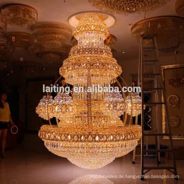 Vintage Innenausstattung Luxus Hotel Lobby Kristall Kronleuchter Große Große Anhänger Hängelampe Licht Beleuchtung LT-63025