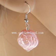 Popular ABS Faux Pearl Rose Beaded Earring