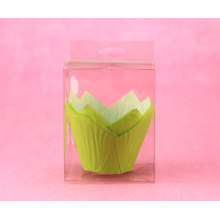 Paper muffin cup with plastic box