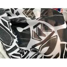 tissu de mousseline de soie d'impression teint de conception de mode