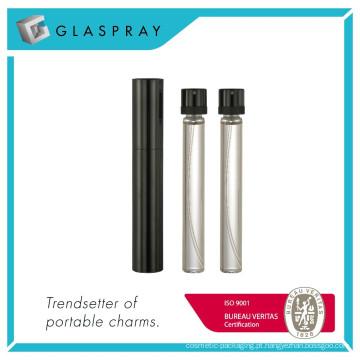 12ml Brilhante Black Refillable Twist e Spray Eau de Parfum Spray Bottle