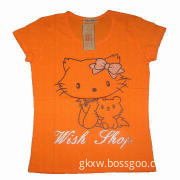 Women's T-shirt, printed, bamboo/cotton fabric