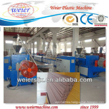 wpc decking machine for wood plastic decking profiles plastic machine