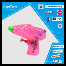 Colorful promotion plastic toy for kids transparent water gun