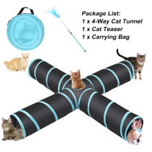 Collapsible Cat Tunnel Tube Kitty Tunnel