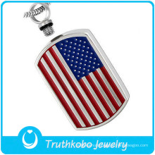 Stainless Steel Pet Cremation Ash Jewelry The Star-spangled Banner Pendant Locket For Ashes