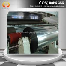Película BOPP Metalizado 18 milímetros com calor vedável