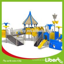 Crianças slide plástico, crianças ao ar livre playground equipamentos, parque infantil ao ar livre conjunto LE.HD.015