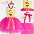 2017 новая мода милые Миньоны Миньон косплей девушки платье девушки туту партии производительности платье принцессы тюль платья оптом