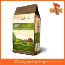Mejor venta de alta calidad guangzhou fábrica de alimentos para perros bolsa de papel de embalaje con logotipo impreso