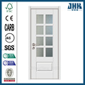 JHK HDF White Interior Wood Doors With Glass