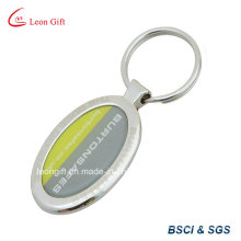 Porte-clés métal époxy avec autocollant
