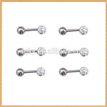 Modern style colorful crystal head barbell shape earring Stud Earring